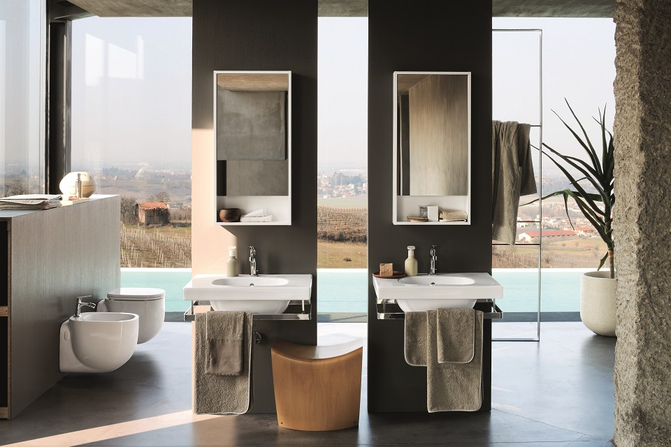 Ceramica smaltata sanitari vetrochina citterio lavabo - Richard ginori sanitari bagno ...